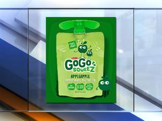GoGo squeeZ announces recall for pouches