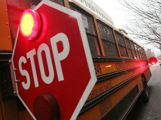 Vehicle collides with Bixby school bus
