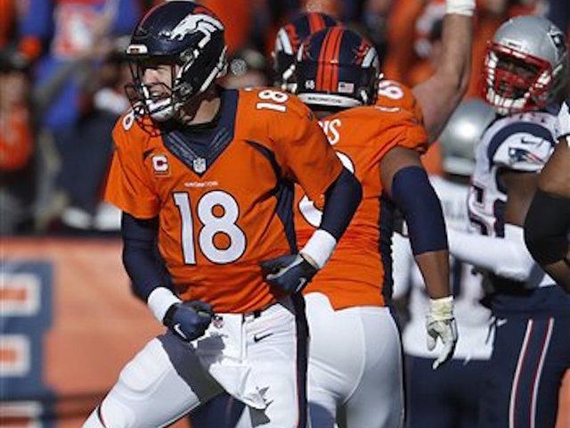 Manning, Denver scramble past New England, into Super Bowl