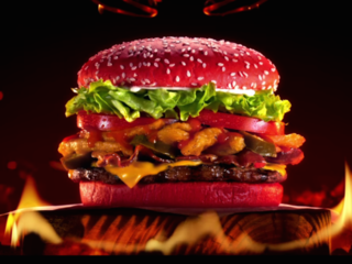 Would you try Burger King's red-bunned burger?