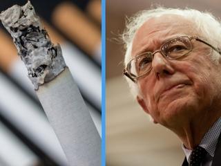 Bernie Sanders questions legality of cigarettes