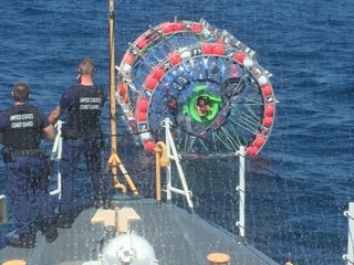 Coast Guard rescues man in a bubble in the ocean