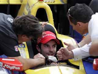 Rossi wins Indy 500 with no gas left in tank