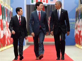 Obama, Trudeau, Peña Nieto speak on free trade