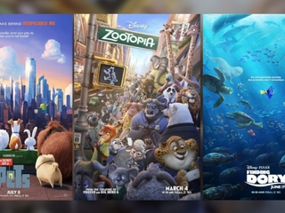 Animated movies dominate 2016 box office