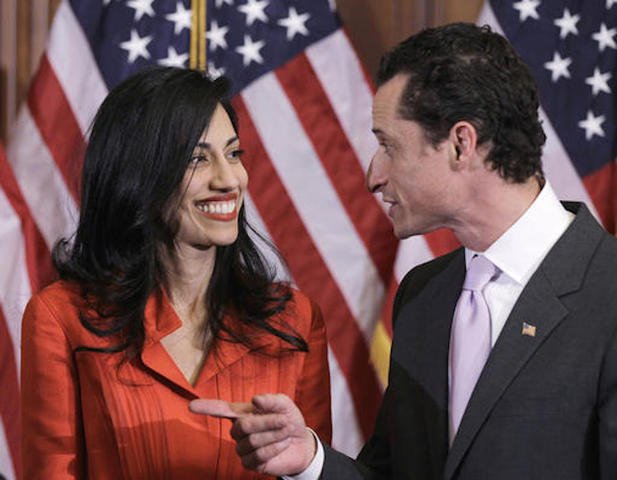 Clinton aide Abedin dumps husband Weiner over new scandal