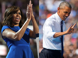 Obamas resonate with groups Clinton needs