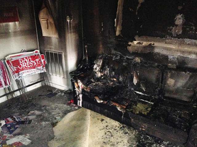 GOP office in North Carolina set afire; 'Nazi' painted nearby