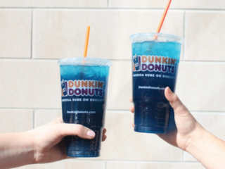 Dunkin' Donuts selling a Monster Energy drink