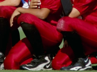 Entire youth football team kneels for anthem