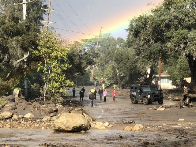 California mudslides kill at least 15 people and wreck wealthy suburbs