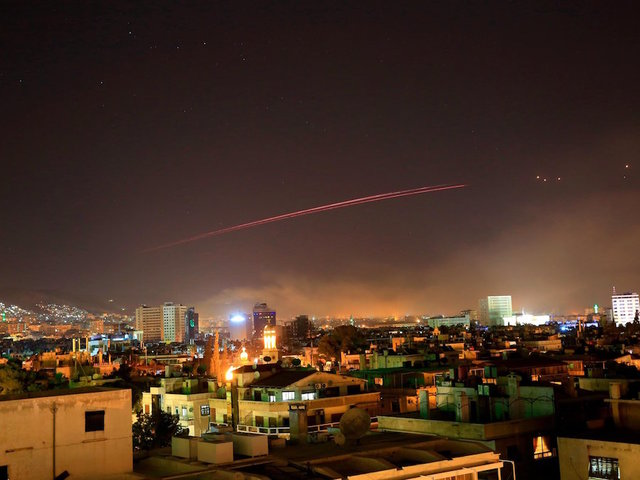 Syrian media report Israeli attack near capital Damascus