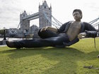 Statue of actor Jeff Goldblum appears in London