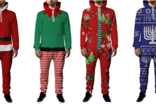 Men's holiday rompers now available as onesies